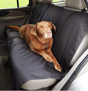 AmazonBasics Waterproof Car Back Bench Seat Cover Protector for Pets