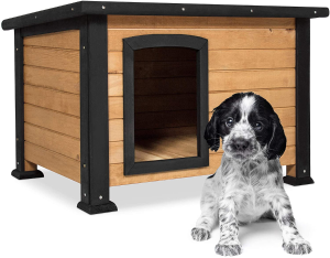Best Choice Products Wooden Log Cabin Dog House