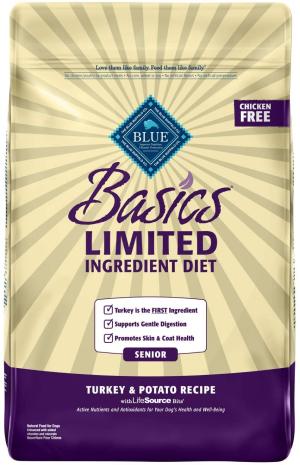 Blue Buffalo Basics Limited Ingredient Diet, Natural Senior Dry Dog Food