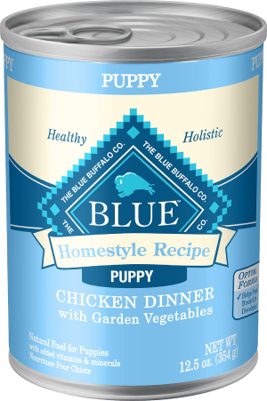 Blue Buffalo Homestyle Recipe Puppy Chicken Dinner with Garden Vegetables Canned Dog Food