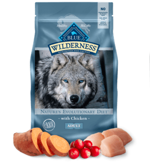 Blue Buffalo Wilderness Natural Adult High Protein Grain Free Chicken Dry Dog Food