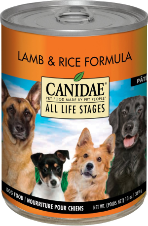 CANIDAE Life Stages Lamb & Rice Formula Canned Dog Food