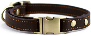 Chede Luxury Real Leather Dog Collar