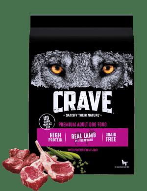 Crave Grain Free High Protein Real Lamb Premium Adult Dry Dog Food