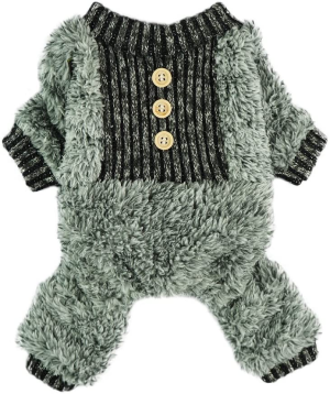 Fitwarm Fuzzy Fleece Thermal Pet Clothes for Dog Pajamas