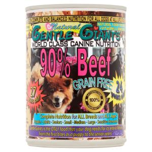 Gentle Giants Canine Nutrition 90% Beef Grain-Free Wet Dog Food