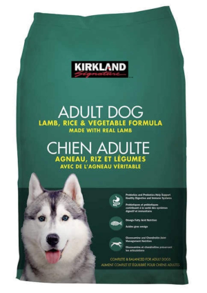 Kirkland Signature Adult Formula Lamb, Rice and Vegetable Dog Food