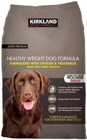 Kirkland Signature Healthy Weight Formula Chicken & Vegetable Dog Food