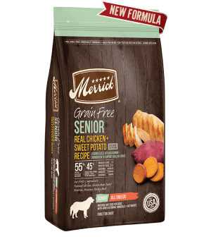 Merrick Grain Free Real Chicken & Sweet Potato Recipe Senior Dry Dog Food
