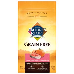Nature's Recipe Grain Free Easy to Digest Salmon, Sweet Potato, & Pumpkin