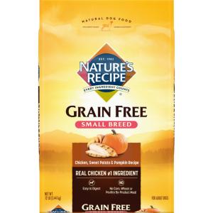Nature's Recipe Small Breed Grain-Free Chicken, Sweet Potato & Pumpkin Recipe Dry Dog Food