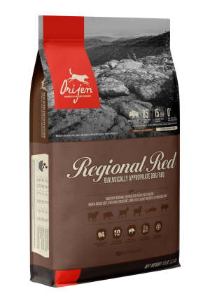 ORIJEN Regional Red Grain Free & Poultry Free High Protein Fresh & Raw Animal Ingredients Dry Dog Food