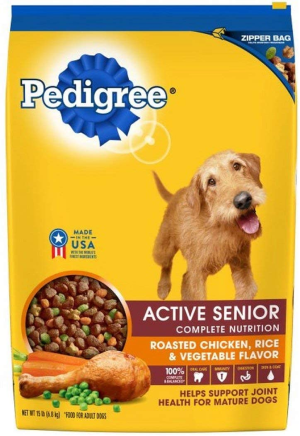 Pedigree Active Senior Roasted Chicken, Rice & Vegetable Flavor Dry Dog Food