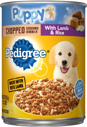 Pedigree Puppy Chopped Ground Dinner With Lamb & Rice Canned Dog Food