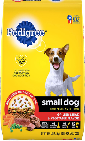 Pedigree Small Breed Adult Dry Dog Food, Chicken & Steak