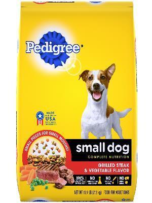 Pedigree Small Dog Complete Nutrition Grilled Steak & Vegetable Flavor