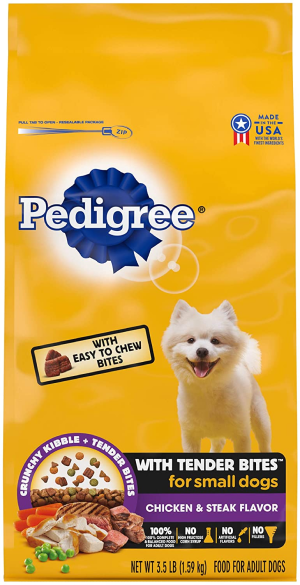 Pedigree Tender Bites Complete Nutrition Chicken & Steak Flavor Small Breed Dry Dog Food