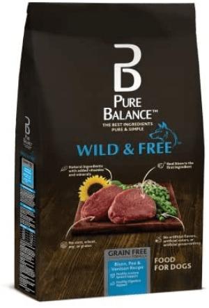 Pure Balance Grain-Free Wild & Free Bison, Pea, Potato & Venison Recipe Dry Dog Food