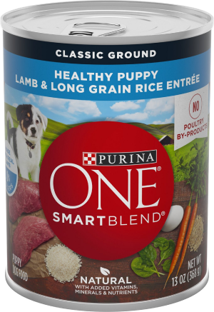 Purina ONE SmartBlend Classic Ground Healthy Puppy Lamb & Long Grain Rice Entree Canned Dog Food