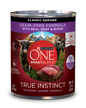 Purina ONE SmartBlend True Instinct Classic Ground Grain-Free Dog Food Formula With Real Beef & Bison