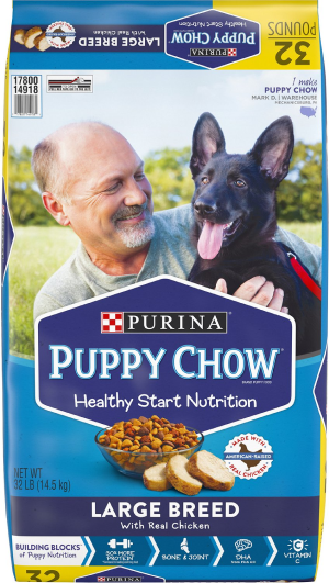 Purina Puppy Chow Large Breed with Real Chicken