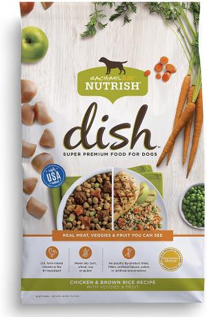 Rachael Ray Nutrish Dish Natural Premium Dry Dog Food, Beef & Brown Rice Recipe With Veggies, Fruit & Chicken