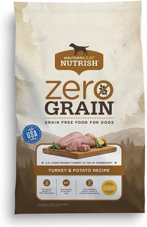 Rachael Ray Nutrish Zero Grain Natural Dry Dog Food, Grain Free Turkey & Potato Recipe