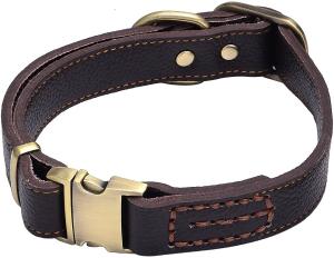 Tellpet Leather Dog Collar